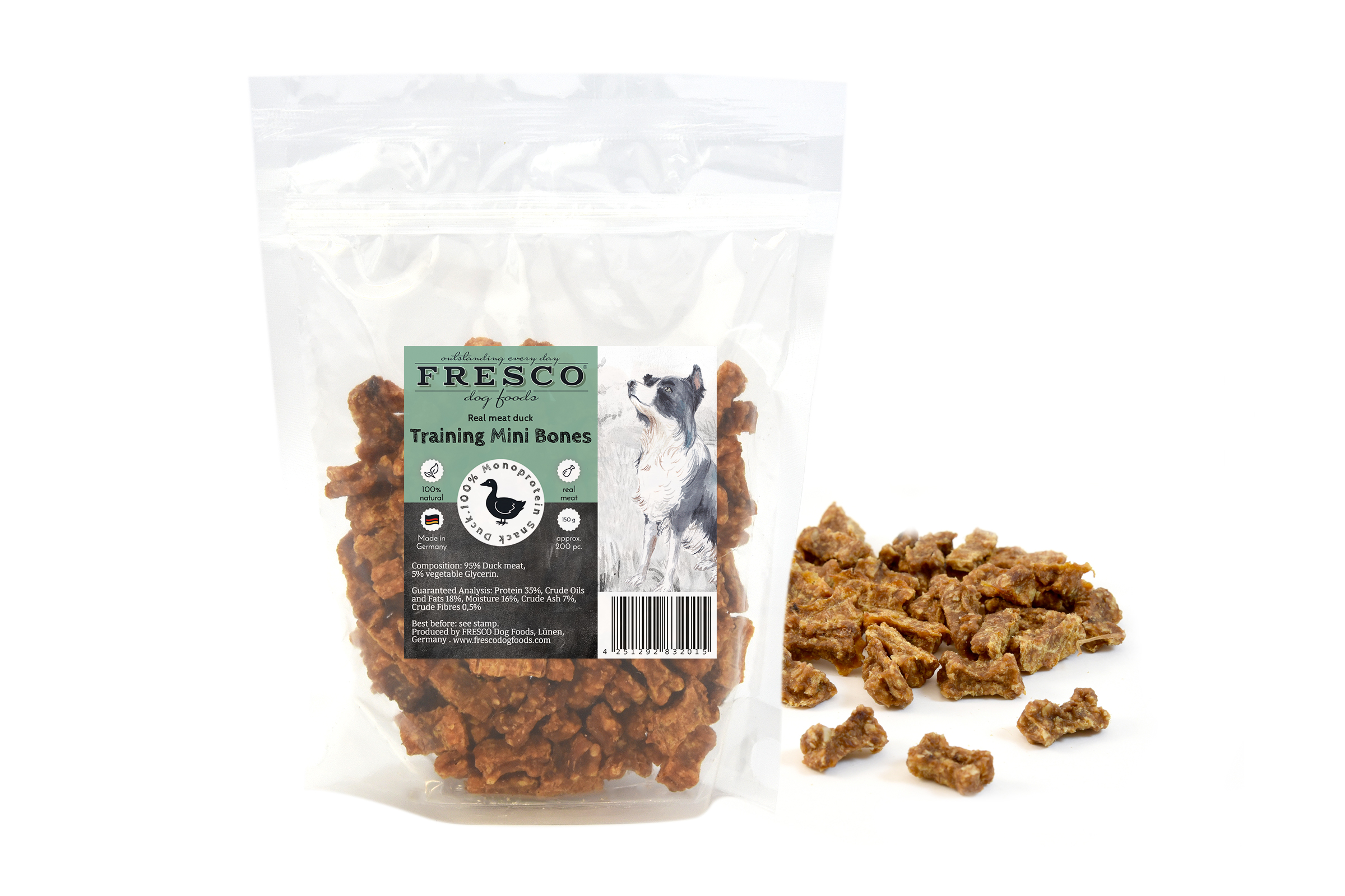 Fresco - Duck Training Snacks (Mini Bones or Bites 150g