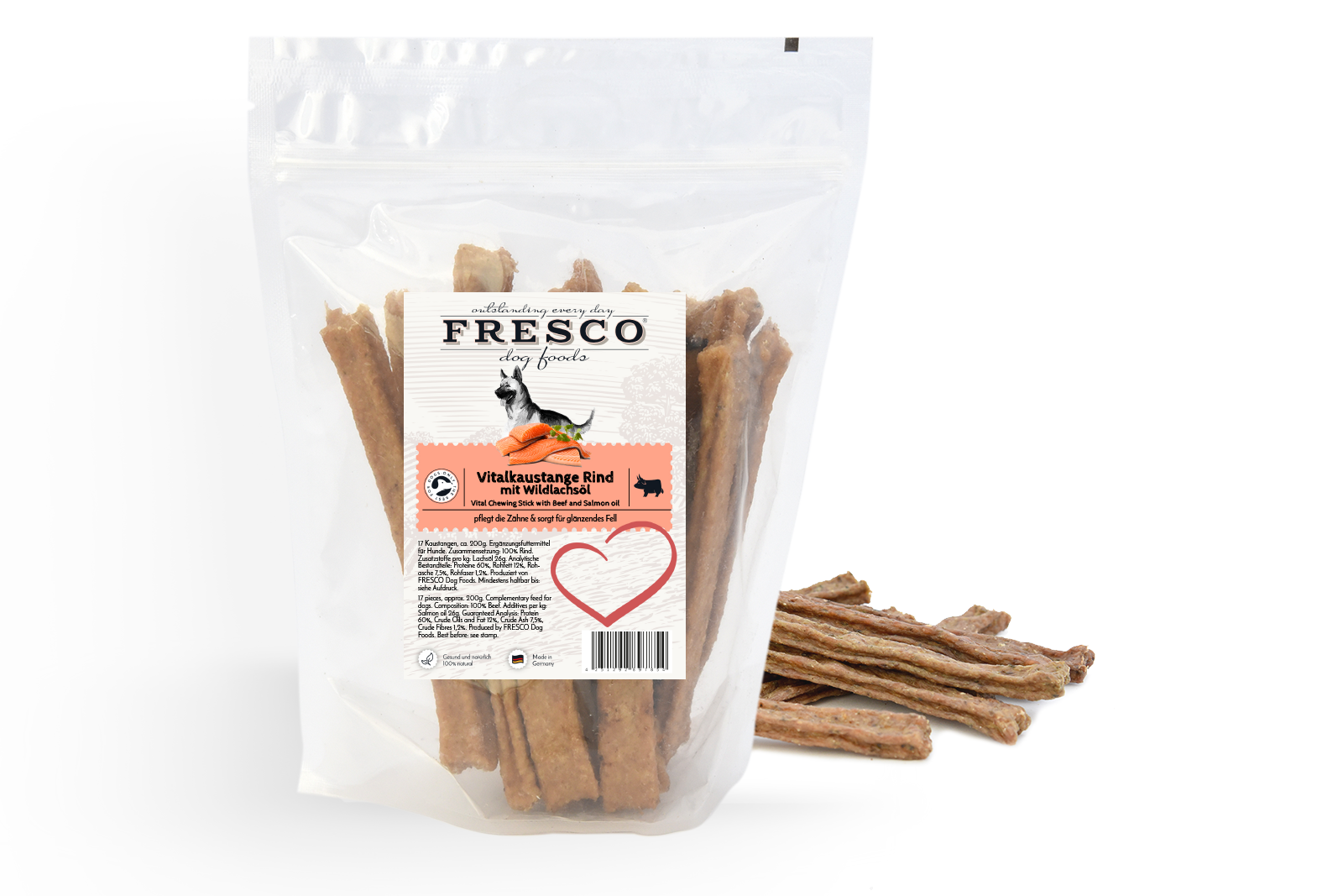Fresco - Vital chewing sticks - beef with wild salmon oil